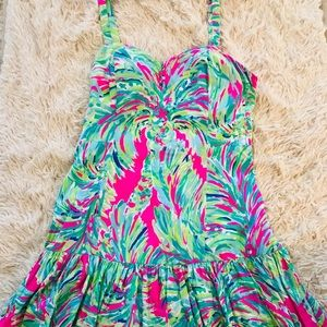 Lily Pulitzer spaghetti ruffle dress
